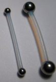 PTFE-Barbell 1,6 mm mit Stahlkugeln