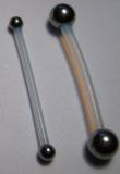 PTFE-Barbell 1,2 mm mit Stahlkugel