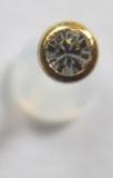 ETFE-Labret 1,2 / 1,6 mm mit Stahl Schraubeinsatz gold mit Stein CR