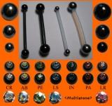 PTFE-Barbell 1,2 mm mit Titankugeln