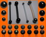 PTFE-Barbell 1,6 mm mit Titankugeln